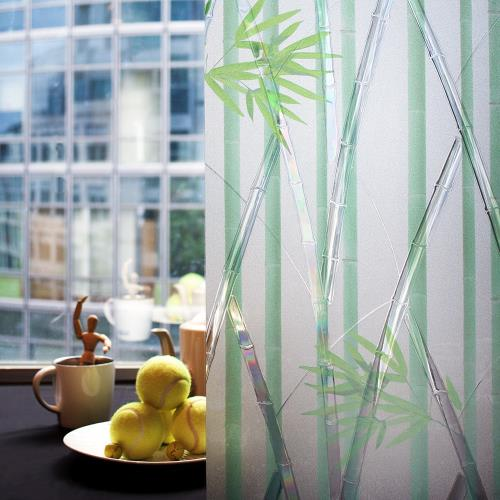 【meiwa】日本明和阻隔UV窗貼-竹林深處92*100CM