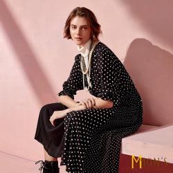 MONS 法式優雅復古圓點洋裝