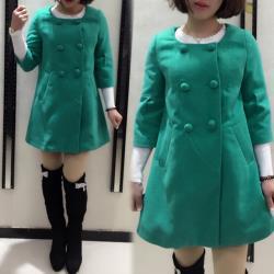 【K.W.韓國】 (現貨) 基本好搭顯瘦毛呢大衣