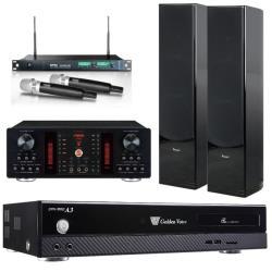 金嗓 CPX-900 A3 智慧點歌伴唱機 4TB+A-450擴大機+ACT-869 PRO無線麥克風+PF-28R主喇叭