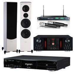 音圓 S-2001 N2-350 卡拉OK點歌機 4TB+A-450擴大機+ACT-869 PRO無線麥克風+PF-28W主喇叭