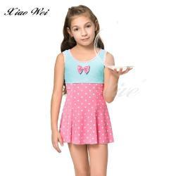 聖手品牌 時尚流行女童連身裙泳裝 NO.A888088