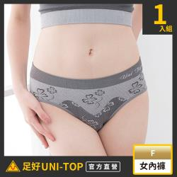 【UNI-TOP 足好】709(鍺)銀纖維竹炭防黴女三角