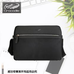 (crocodile)專櫃品牌 橫式小斜背包/側背包/商務包(08003黑色)