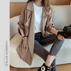 【GF 快時尚】簡約翻領造型風衣外套 (M~XL)