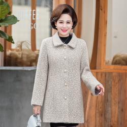 【艾洛妃】典雅翻領雪花絨優雅珍珠釦修身保暖大衣 (3色任選)