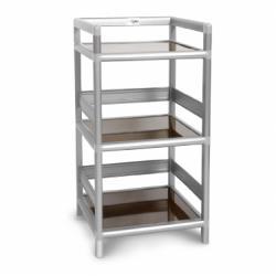 【AS】黑桃木得意1.2尺鋁合金三層架-40.1x40.1x82.4cm