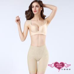天使霓裳 塑身褲 束腰收腹 素色蕾絲透氣提臀塑腿褲 內搭 彈性舒適 女款 (膚色S~XL號) RQ160