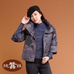 【岱妮蠶絲】極輕量舖蠶絲短襖-灰紫(LWK2YD01)