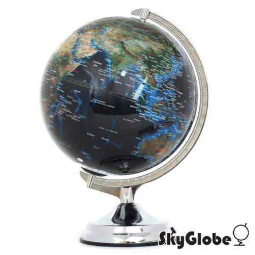 SkyGlobe 12吋地形海溝人口分佈地球儀(英文版)(附燈)