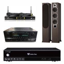 金嗓 CPX-900 A5電腦伴唱機 4TB+SA-830U 擴大機+OK-9D II 無線麥克風+S428 主喇叭(木)