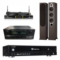 金嗓 CPX-900 R2電腦伴唱機 4TB+SA-830U 擴大機+OK-9D II 無線麥克風+S428 主喇叭(木)