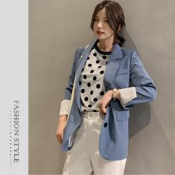 【GF 快時尚】簡約條紋反摺袖口袋西裝外套 (M~2XL)