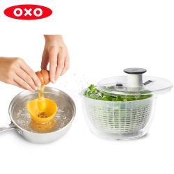 【OXO】早安先生小姐二件組(香草脫水器+水波蛋神器)