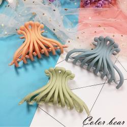 【卡樂熊】大髮量磨砂純色造型爪夾/髮夾(三色)