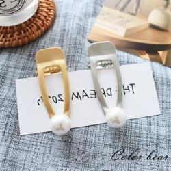 【卡樂熊】韓系鏤空珍珠造型金屬髮夾(兩色)