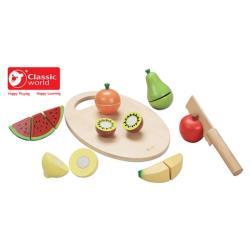 Classic world 德國經典木玩 客來喜 水果切切樂 木製益智玩具