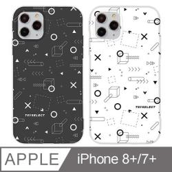 iPhone 7/8 Plus 5.5吋 TEN%圈叉設計iPhone手機殼