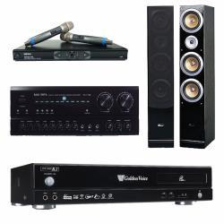 金嗓 CPX-900 R2電腦伴唱機 4TB+PA-7150 擴大機+MR-865 無線麥克風+QX900F 主喇叭