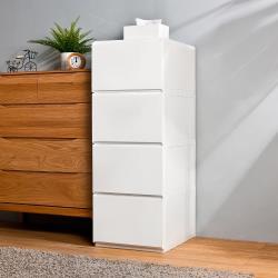 HOUSE  大栗子純白無印風4層抽屜式收納櫃