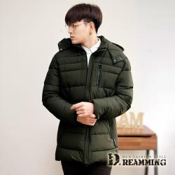 【Dreamming】率性YPJN超保暖厚鋪棉長版連帽外套(共二色)