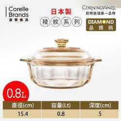 康寧CORNINGWARE 稜紋系列。晶鑽鍋0.8L