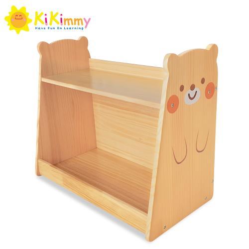Kikimmy小熊原木學習收納書櫃/