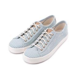 KEDS KICKSTART 海洋風條紋綁帶帆布鞋 淺藍/條紋 9192W122725 女鞋