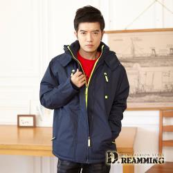 【Dreamming】玩色多功能刷毛防潑水連帽衝鋒外套(共二色)