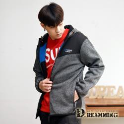 【Dreamming】潮流混色複合彈力保暖刷毛連帽外套(共二色)