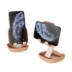 Jokitech 粉餅盒造型手機支架 摺疊手機架 隨身攜帶手機架 網美手機支架 自拍架 直播架 追劇 (2款任選)