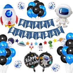 WIDE VIEW 太空人主題派對生日氣球套組(BL-11)