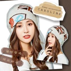 《Caroline》秋冬流行時尚個性網紅百搭韓版時尚多用途包頭帽 72391
