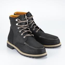 Timberland 男款黑色全粒面皮革Moc Toe靴A2EEE001