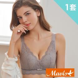 Mavis瑪薇絲-迷幻蕾絲無鋼圈乳膠內衣褲(1套-3色)