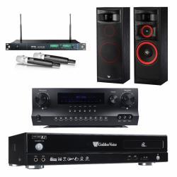 金嗓 CPX-900 R2電腦伴唱機 4TB+DW 1 擴大機+ACT-869 PRO 無線麥克風+XLS-12 主喇叭