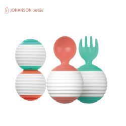 【韓國JOHANSON】 好事花生兒童湯叉組 (兒童餐具、兒童湯匙、叉子、學習餐具)