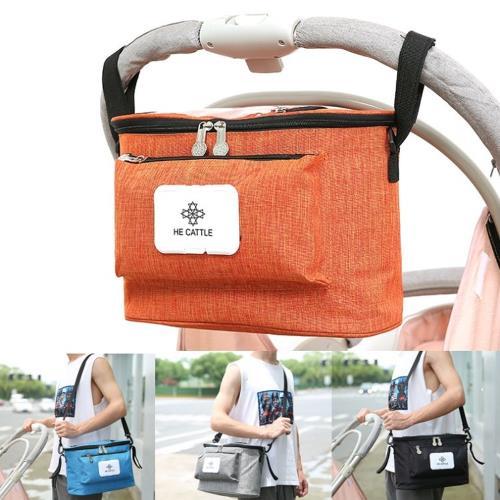 【Bunny】熱銷多功能嬰兒寵物推車掛袋保溫儲物媽咪包/