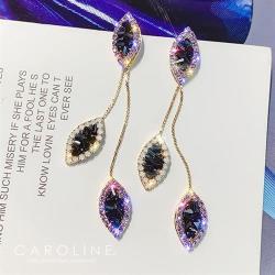 《Caroline》★韓國熱賣造型時尚  閃亮動人耳環70930