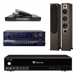 金嗓 CPX-900 A5電腦伴唱機 4TB+DW 1 擴大機+LM-750 無線麥克風+ S 428 主喇叭(木)