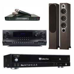 金嗓 CPX-900 R2電腦伴唱機 4TB+DW 1 擴大機+LM-750 無線麥克風+ S 428 主喇叭(木)