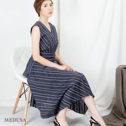 現貨【MEDUSA 曼度莎】造型褶腰帶不規則下擺洋裝