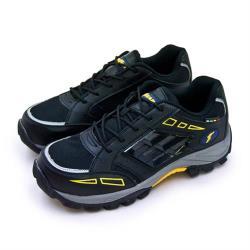 【GOODYEAR 固特異】男 透氣鋼頭防護認證安全工作鞋 STORM風暴系列(黑灰黃 83920)