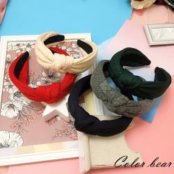 【卡樂熊】烙印星星扭結造型髮箍(五色)