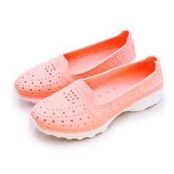 【GOODYEAR 固特異】女 排水透氣輕量美型水陸多功能休閒洞洞鞋(蜜桃橘 82823)