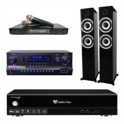 金嗓 CPX-900 A5電腦伴唱機 4TB+DW 1 擴大機+LM-750 無線麥克風+S-6601 主喇叭(黑)