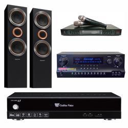 金嗓 CPX-900 A5電腦伴唱機 4TB+DW 1 擴大機+LM-750 無線麥克風+S-RS55TB 主喇叭
