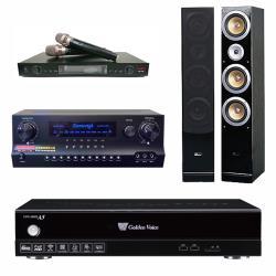 金嗓 CPX-900 A5電腦伴唱機 4TB+DW 1 擴大機+LM-750 無線麥克風+ QX-900F 主喇叭