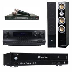 金嗓 CPX-900 R2電腦伴唱機 4TB+DW 1 擴大機+LM-750 無線麥克風+ QX-900F 主喇叭