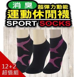 LD台灣製雙X型支撐專利抗菌機能襪+$1特惠組